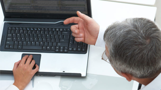 Business Discussion Laptop